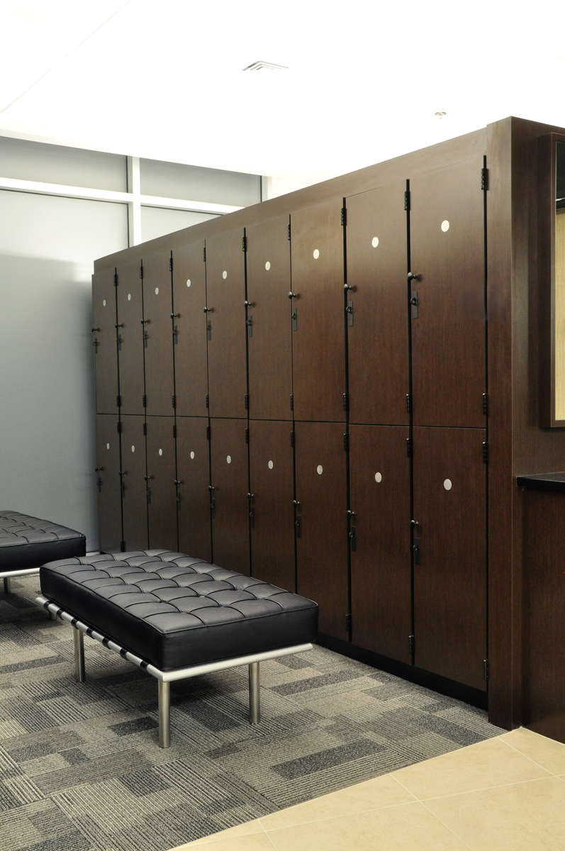 Double Stacked Lockers
