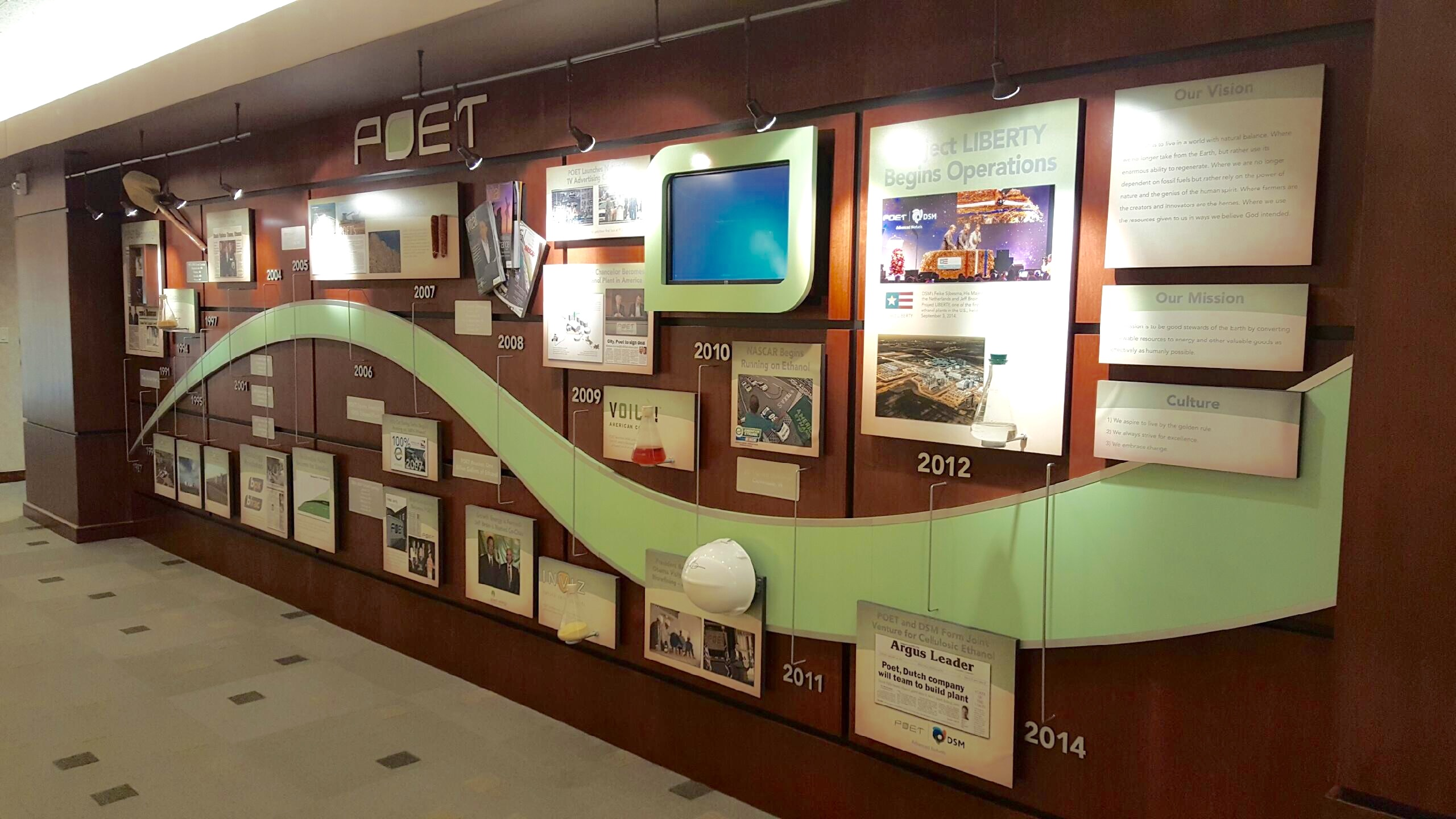 POET History Wall – Sioux Falls, SD