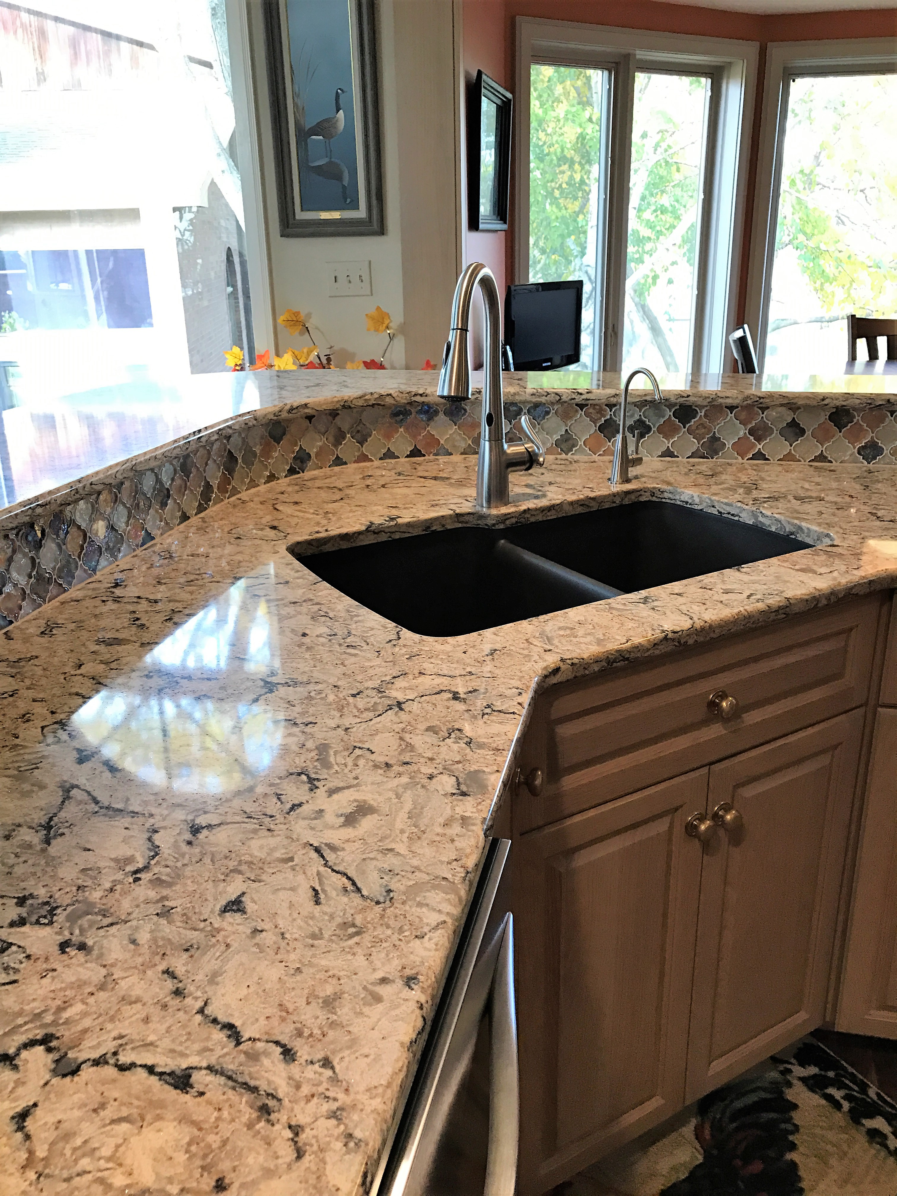 granix quartz countertop products design photos burton and countertops brown finished kitchen reviews cambria installed