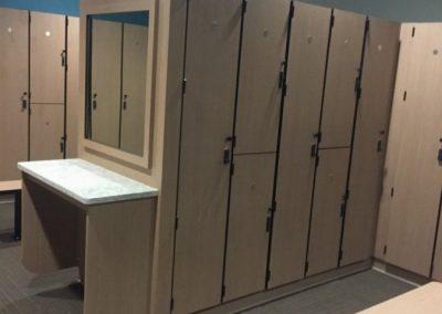 Fitness Center Locker Rooms