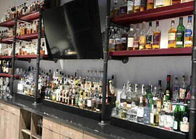 Custom Liquor Bottle Shelving and Storage Cabinets