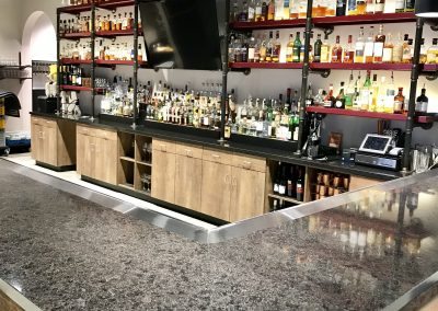Custom Cocktail Bar & Bottle Shelving for JJ's Wine & Liquor