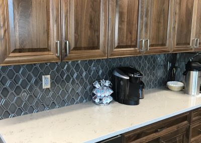 Coffee Bar Cabinets & Cambria Countertops