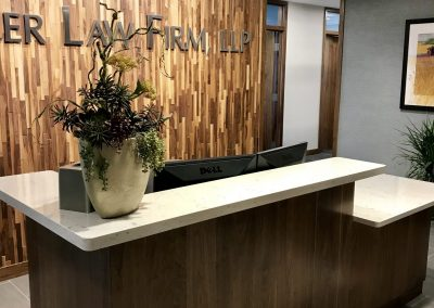Reception Desk with Cambria Countertops