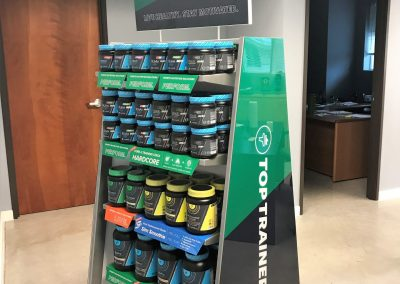 fitness center retail displays