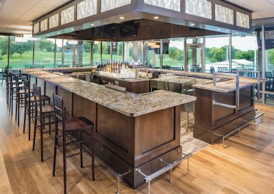custom country club cabinetry