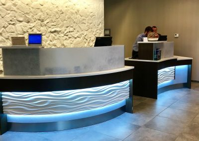 Reception Desk for Springhill Suites in Rockwall, TX