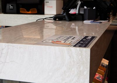 Mitered Edge Cambria Quartz Countertop