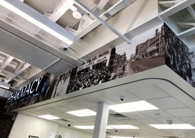 Lewis Drug History wall