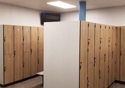 custom fitness center cabinetry