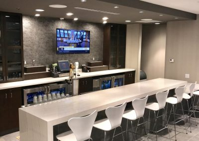 Hotel Lobby Bar and Cabinets