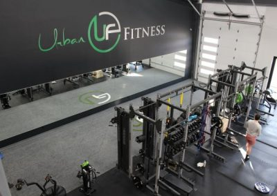 high end boutique gym cabinetry