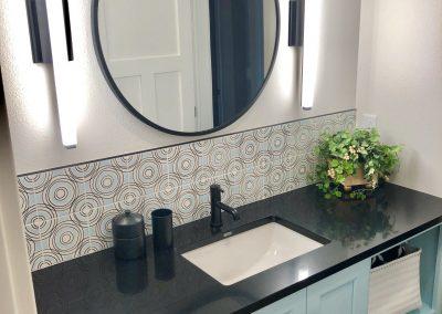 vanity cambria black countertops