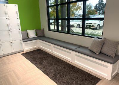 custom built commercial bench