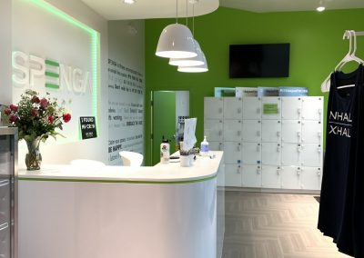 fitness center reception cabinetry