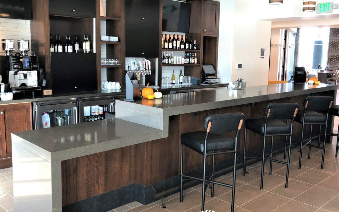 hotel lobby bar cabinetry