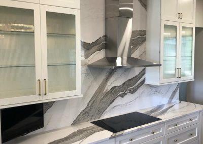 cambria quartz full height backsplash