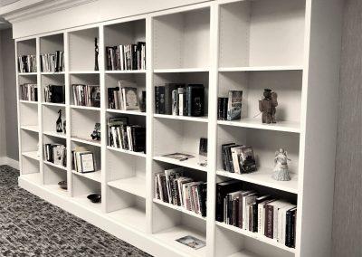 custom open shelf bookcase