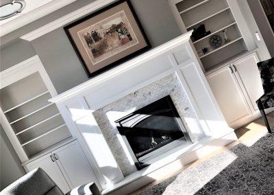 doubled sided custom fireplace